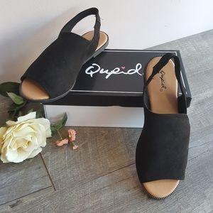 Qupid loafer sandals